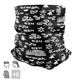 BANDANA NECK multifunction SILA BREIZH Black