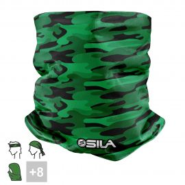 BANDANA NECK multifunction SILA CAMO Green