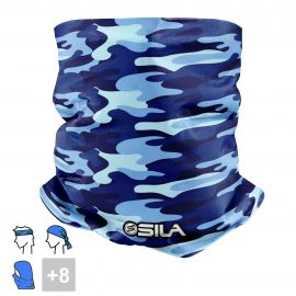 BANDANA NECK multifunction SILA CAMO Blue