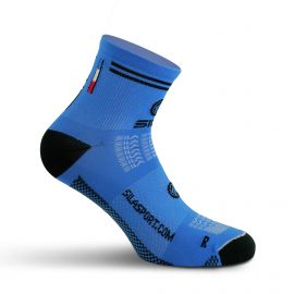 SHORT SOCKS SILA RACING - ROYAL BLUE / BLACK