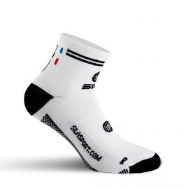 SHORT SOCKS SILA RACING - WHITE / BLACK