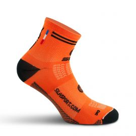 SHORT SOCKS SILA RACING - FLUO ORANGE / BLACK