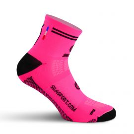 SHORT SOCKS SILA RACING - FLUO PINK / BLACK