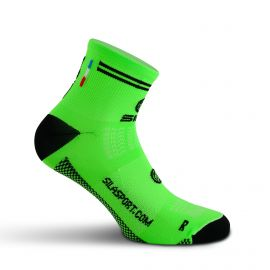SHORT SOCKS SILA RACING - FLUO GREEN / BLACK