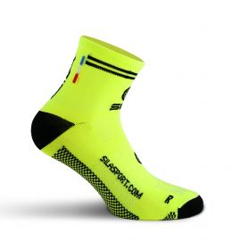 SHORT SOCKS SILA RACING - FLUO YELLOW / BLACK