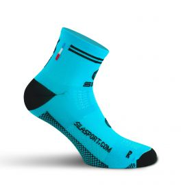 SHORT SOCKS SILA RACING - BLUE CYAN / BLACK