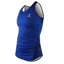 RUNNING WOMAN SLEEVELESS JERSEY SILA AZALEA - BLUE