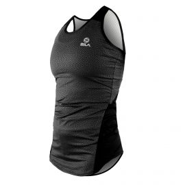 RUNNING WOMAN SLEEVELESS JERSEY SILA AZALEA - BLACK