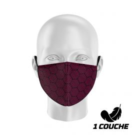 Fabric Mask SILA WAVE PINK - Shell Shape - Filtration 1 - UNS1