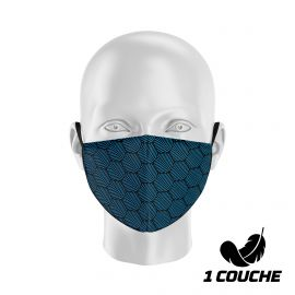 Fabric Mask SILA WAVE CYAN - Shell Shape - Filtration 1 - UNS1