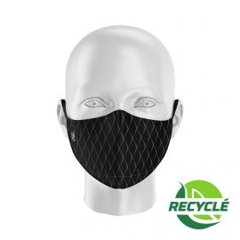 Fabric Mask SILA SCALE BLACK - Ergo Shape - Filtration 1 - UNS1