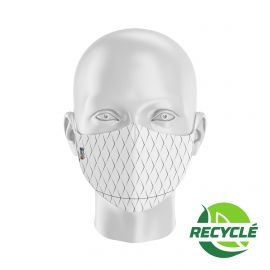 Fabric Mask SILA SCALE WHITE - Ergo Shape - Filtration 1 - UNS1