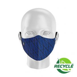 Fabric Mask SILA BUNCH BLUE NAVY - Ergo Shape - Filtration 1 - UNS1