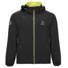 SOFTSHELL JACKET SPORT WITH HOOD SILA - BLACK