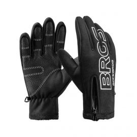 LONG GLOVES THERMAL ROCKBROS SNOW - BLACK