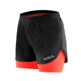 RUNNING SHORT 2 IN 1 SILA PRIME WOMEN - CORAL