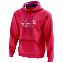 HOODIE SILA CYCLING SUPPORT PINK - WOMEN