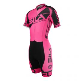 SKATING SUIT SILA FLUO STYLE 3 PLUS PINK - Short sleeves