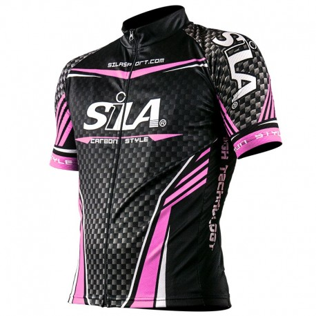 SHORT SLEEVE JERSEY CARBON STYLE WHITE