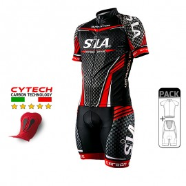 PACK HIVER Cyclisme - SILA CARBON STYLE ROUGE