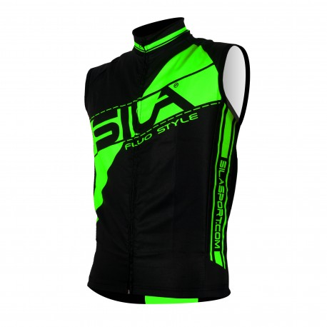 GILET COUPE VENT SILA FLUO STYLE 3 JAUNE