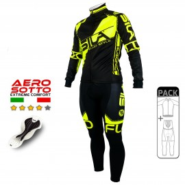 PACK HIVER Cyclisme - SILA FLUO STYLE 3 JAUNE