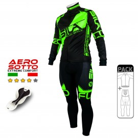 PACK HIVER Cyclisme - SILA FLUO STYLE 3 VERT