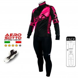 PACK HIVER Cyclisme - SILA FLUO STYLE 3 ROSE