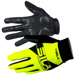 LONG GLOVES MTB SILA - BLACK / WHITE