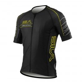 MAILLOT SILA LINEA STYLE JAUNE - Manches courtes