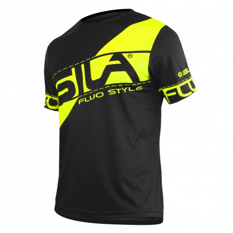 MAILLOT RUNNING HOMME - SILA FLUO STYLE 3 JAUNE - Manches courtes