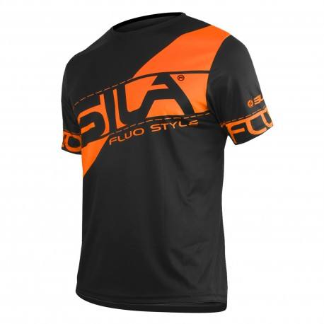 MAILLOT RUNNING HOMME - SILA FLUO STYLE 3 ORANGE - Manches courtes