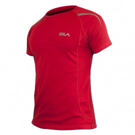 MAILLOT RUNNING - SILA PRIME ROUGE - Manches courtes