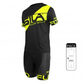PACK ÉTÉ Running Homme - SILA FLUO STYLE 3 JAUNE