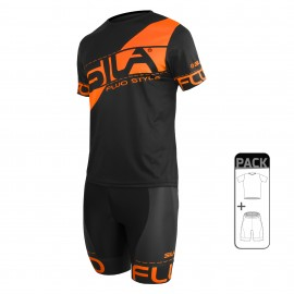 PACK ÉTÉ Running Homme - SILA FLUO STYLE 3 ORANGE